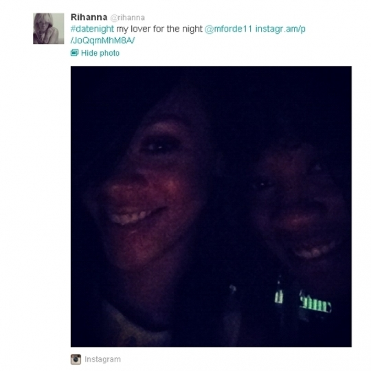 Rihanna Tweets About New Female