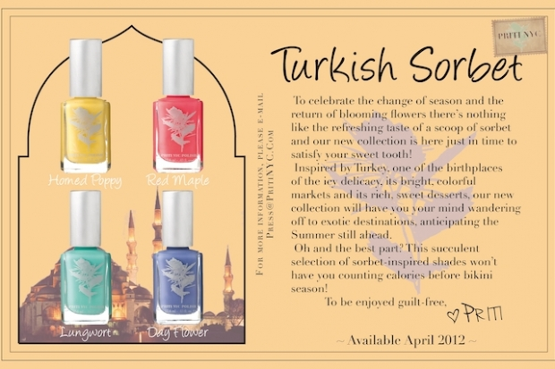 Priti NYC Turkish Sorbet Nail Polish Collection