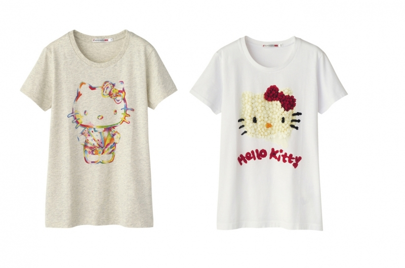 Hello kitty uniqlo t shirt collection for Hello kitty t shirt design