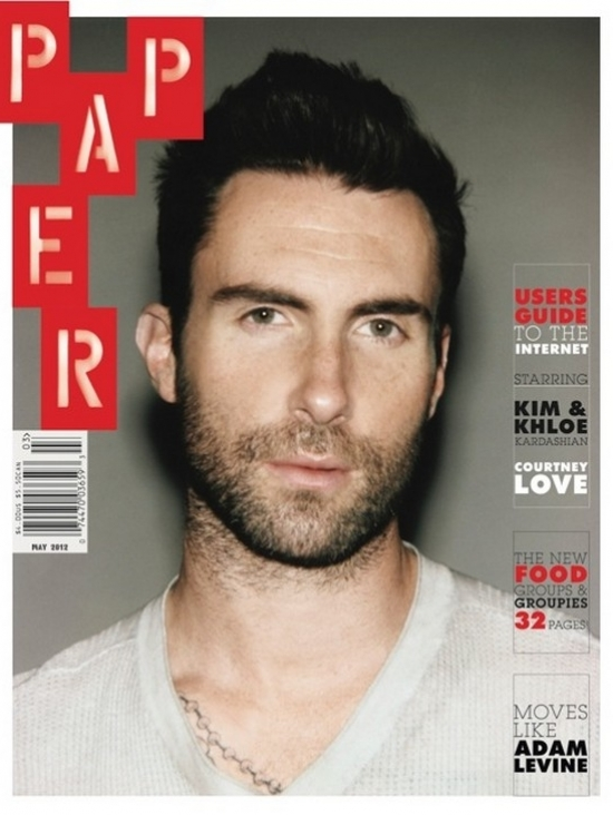 Adam Levine Covers Paper Mag May 2012