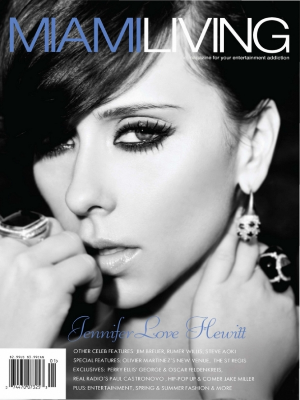 Jennifer Love Hewitt Covers Miami Living Magazine