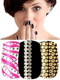Nailease 3D Diamante Nail Wraps