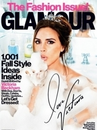 Victoria Beckham Covers GLAMOUR September 2012