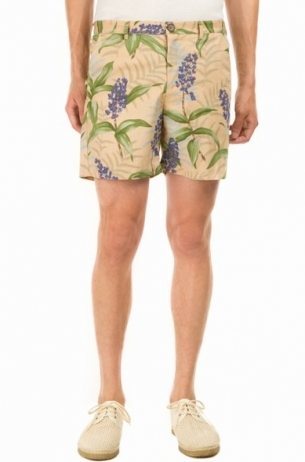 Reverse Print Shorts in beach park