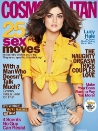 Lucy Hale Covers Cosmopolitan September 2012 | Talks Body Image Issues
