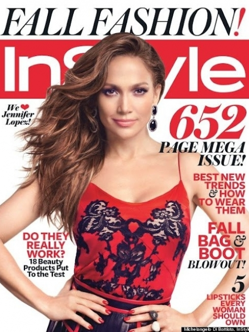 Jennifer Lopez Covers InStyle September 2012 Issue