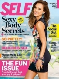 Jessica Alba Shares Workout Secrets with Self September 2012
