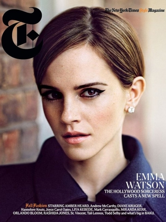 Emma Watson Covers New York Times T Style Fall Fashion Issue 2012