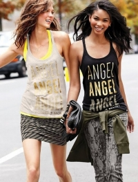 Chanel Iman and Karlie Kloss for Victoria's Secret August 2012 Lookbook