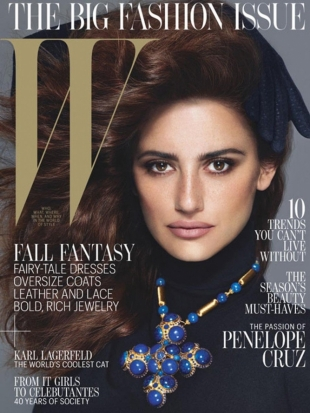 Penelope Cruz Covers W Magazine September 2012 Issue