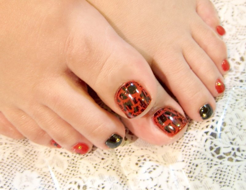 Pedicure Nail Art Designs for Fall