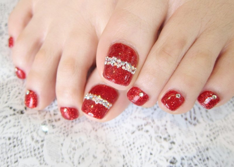 Pedicure Nail Art Designs For Fall Water Nail Art