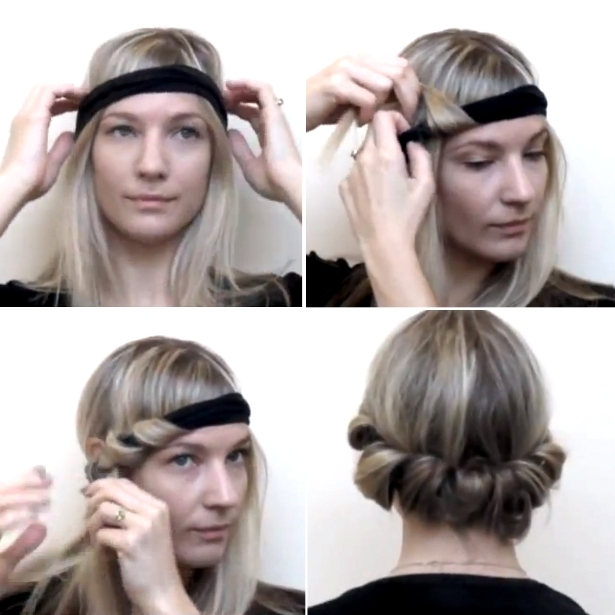 How to Style No-Heat Curls with a Headband
