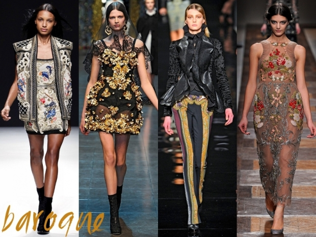 Baroque Fashion Trends Fall Winter 2012