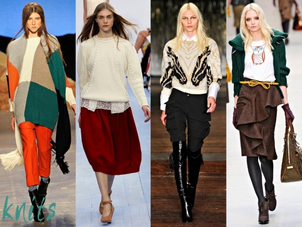 Knits Fashion Trends Fall Winter 2012