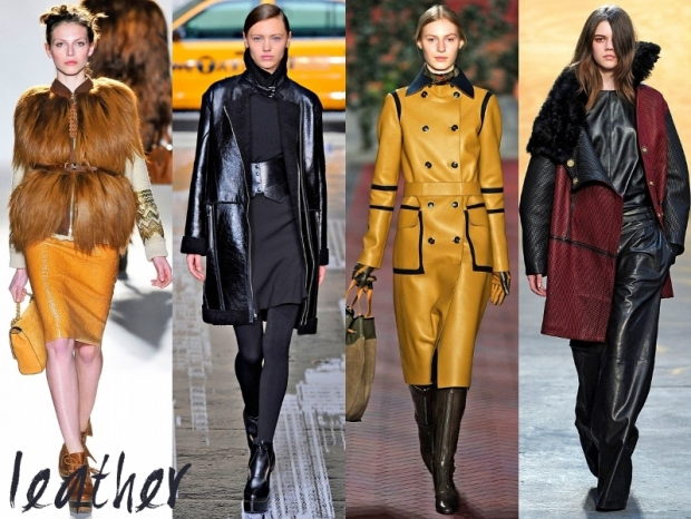 Leather Fashion Trends Fall Winter 2012