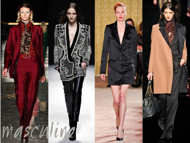 Masculine Inspired Trends Fall Winter 2012
