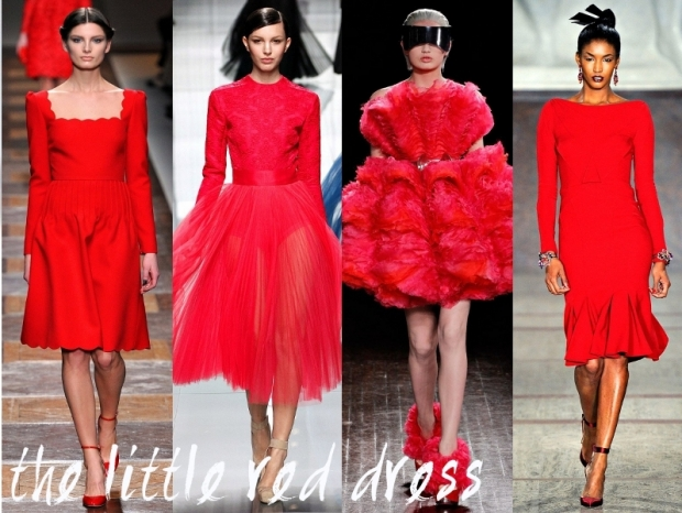 Red Dress Trends Fall Winter 2012