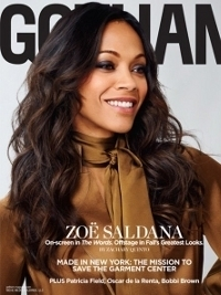 Zoe Saldana Talks Fashion in Gotham Magazine September 2012 Issue