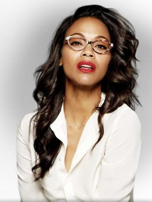 Zoe Saldana with Eyeglasses