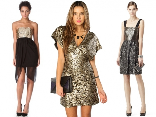Sequined Party Dresses for Christmas 2012
