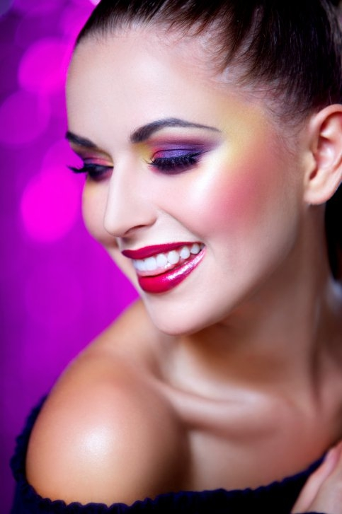 Stylish Purple Makeup Ideas.