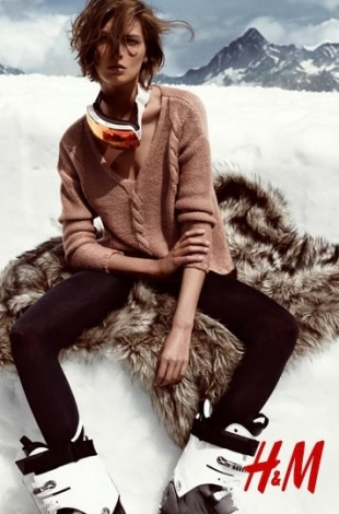Daria Werbowy for H&M Holiday 2012 Campaign