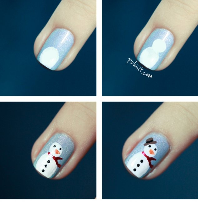 Cute Christmas DIY Nail Art Ideas.