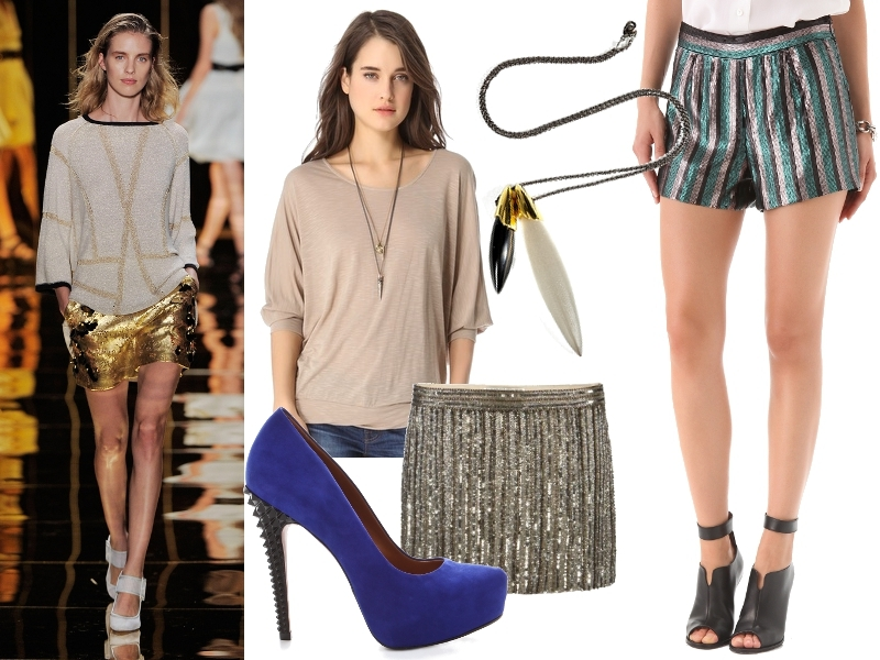 New Years Party Outfit Ideas Sequin Shorts