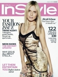 Heidi Klum Covers InStyle UK March 2012