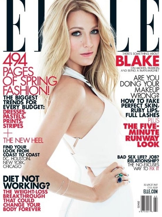 Blake Lively Talks Fashion and Boyfriends with ELLE US March 2012