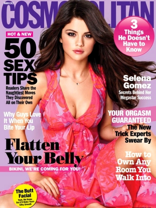 Selena Gomez Covers Cosmopolitan March 2012