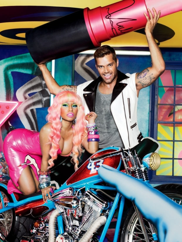 Nicki Minaj and Ricky Martin for MAC Viva Glam Collection