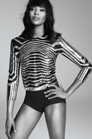 Naomi Campbell for Harper