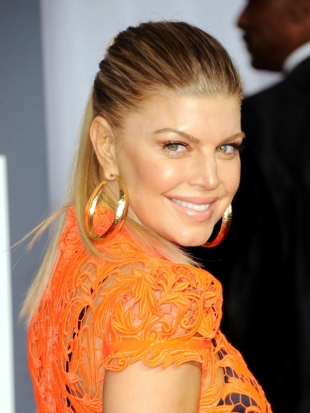 Fergie Ponytail Hairstyle 2012 Grammy Awards