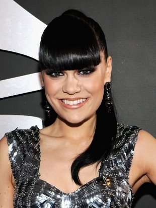 Jessie J Ponytail Hairstyle 2012 Grammy Awards