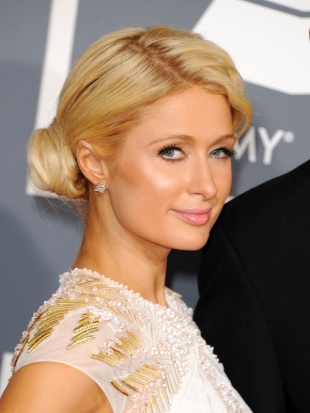 Paris Hilton Hairstyle 2012 Grammy Awards
