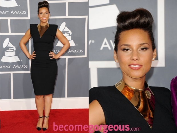 Alicia Keys Dress 2012 Grammy Awards