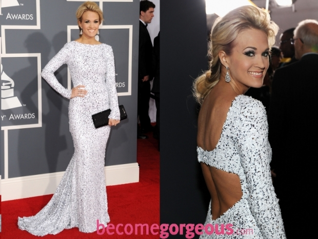 Carrie Underwood Dress 2012 Grammy Awards