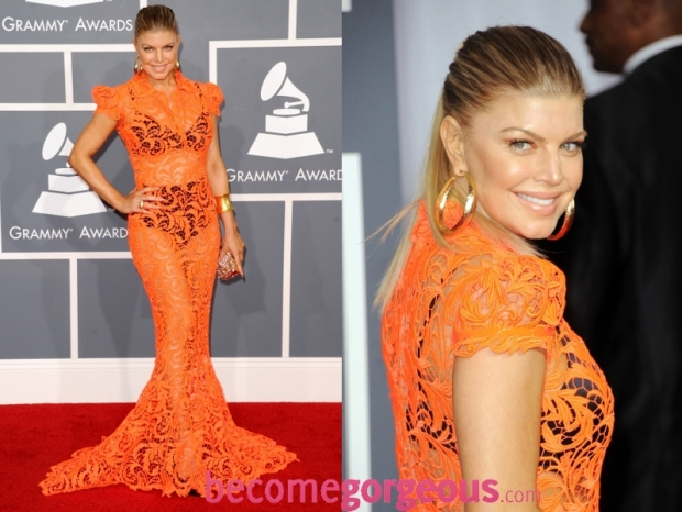 Fergie Dress 2012 Grammy Awards