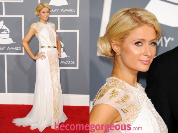 Paris Hilton Dress 2012 Grammy Awards