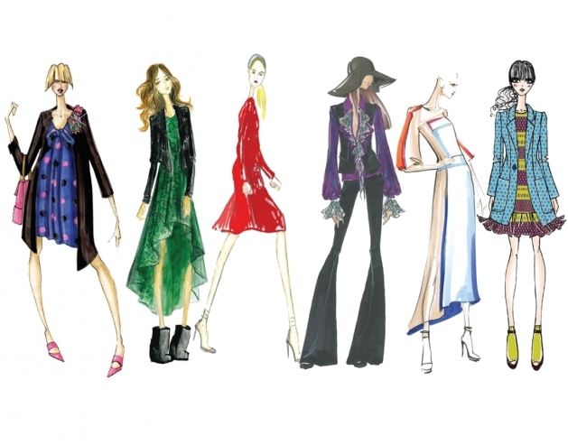 Fashion Design Sketches Background