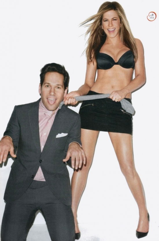 Jennifer Aniston and Paul Rudd Cover GQ March 2012
