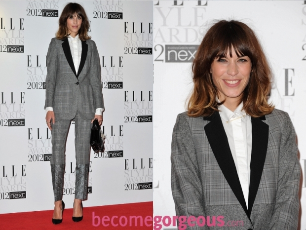Alexa Chung 2012 ELLE Style Awards Red Carpet