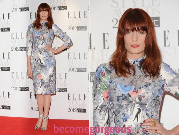 Florence Welch 2012 ELLE Style Awards Red Carpet Looks
