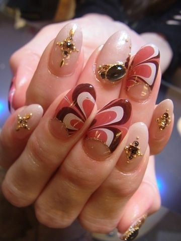 Bedazzled nail art designs for summer 2012 marbled effect nail art designs look amazing and give a sense of high sophistication although the creation process covers a low skill level prinsesfo Image collections