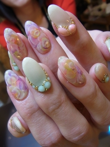 bedazzled nail art designs for summer 2012
