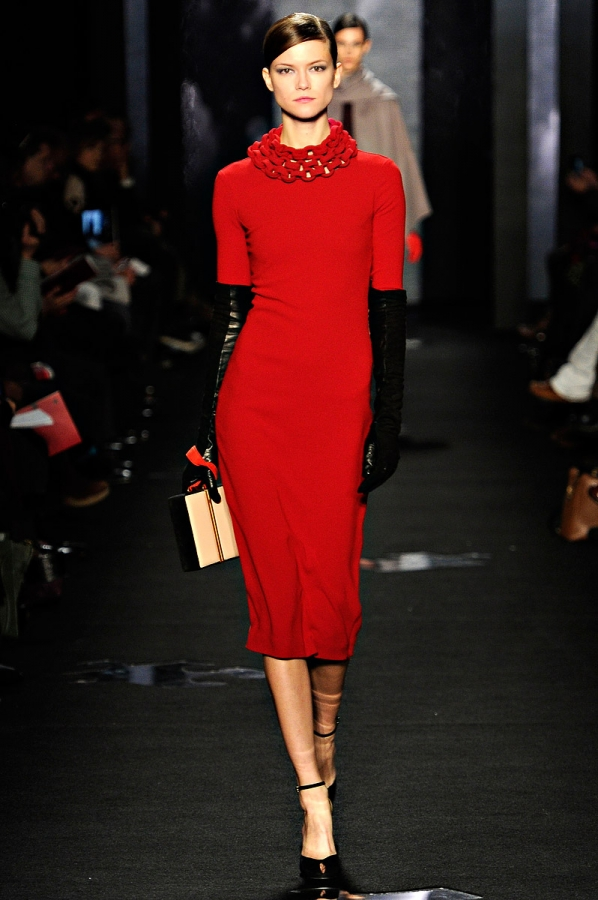 Red Dvf Dress The modern DVF girl is aware