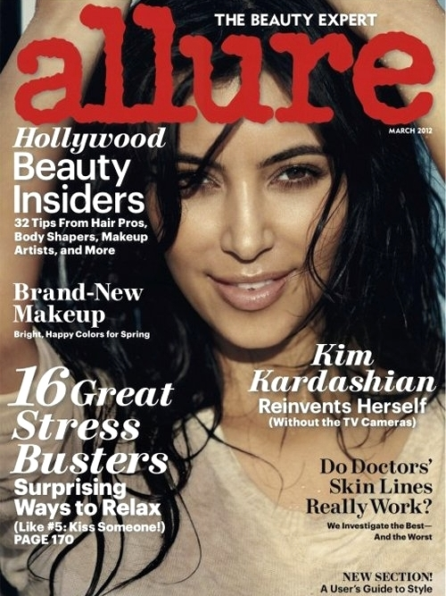 Fotos Hot: Kim Kardashian para Allure March 2012 Gratis Deskrgas.net