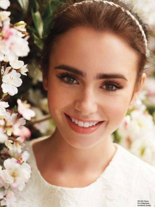 Lily Collins Covers Seventeen March 2012